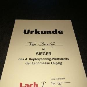 Urkunde Lachmesse 2016